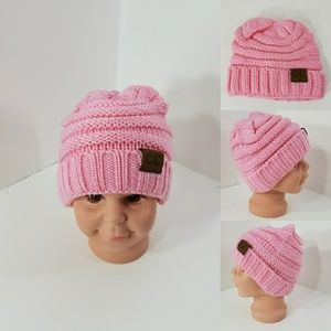 Other - Baby Beanie hats thermal protective outdoors Pink